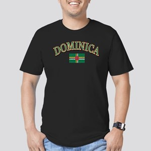 Dominica Football Men's Fitted T-Shirt (dark)