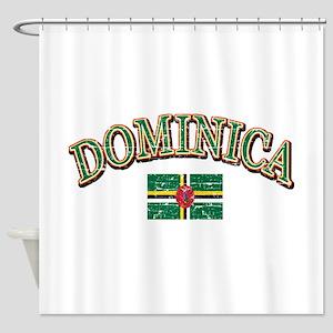 Dominica Football Shower Curtain