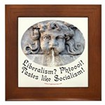 Liberalism? Phtoooi! Framed Tile
