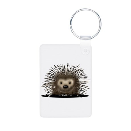 Porcupine Aluminum Photo Keychain