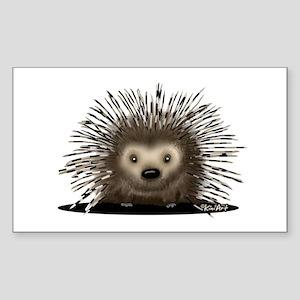 Porcupine Sticker (Rectangle 10 pk)