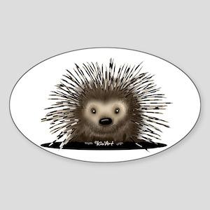 Porcupine Sticker (Oval )