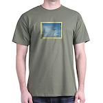 Seagull in Flight Black T-Shirt