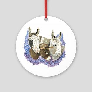 Donkeys Ornament (Round)