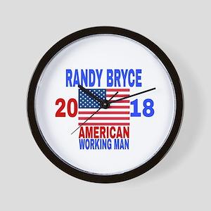 RANDY BRYCE 2018 Wall Clock