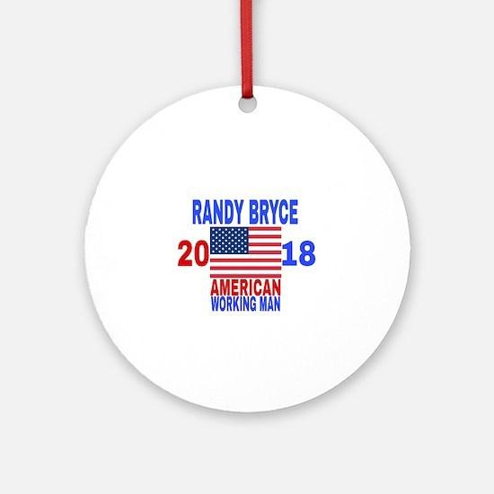 RANDY BRYCE 2018 Round Ornament