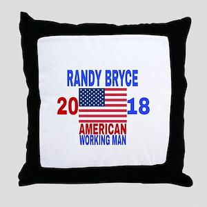 RANDY BRYCE 2018 Throw Pillow