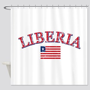 Liberia Football Shower Curtain
