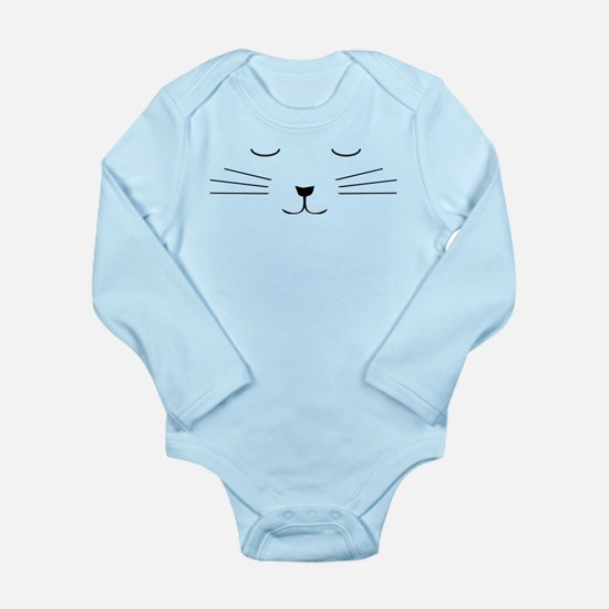 Sleepy Kitty Sleeping cat Long Sleeve Infant Bodys
