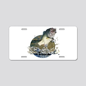Largemouth Bass Aluminum License Plate
