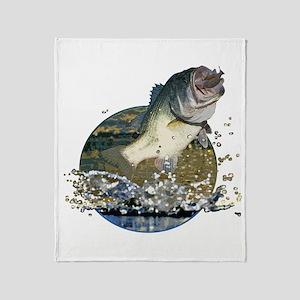 Largemouth Bass Throw Blanket