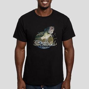 Largemouth Bass Men's Fitted T-Shirt (dark)