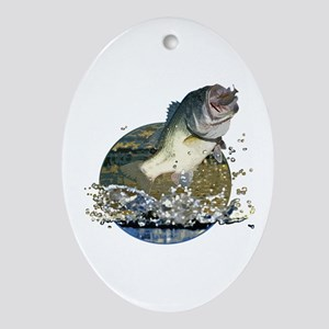 Largemouth Bass Ornament (Oval)