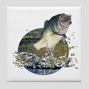 Largemouth Bass Tile Coaster
