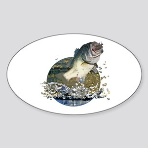 Largemouth Bass Sticker (Oval)