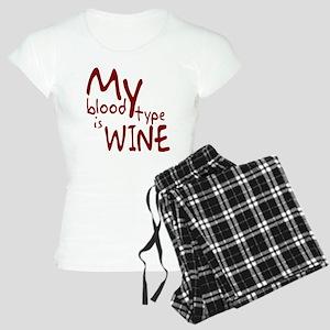 My Blood Type Is Wine Women's Light Pajamas