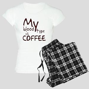 My Blood Type Is Coffee Women's Light Pajamas