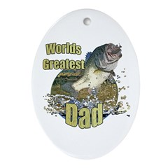World's greatest dad Ornament (Oval)