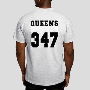 """""""QUEENS 347"""" Ash Grey T-Shirt"""