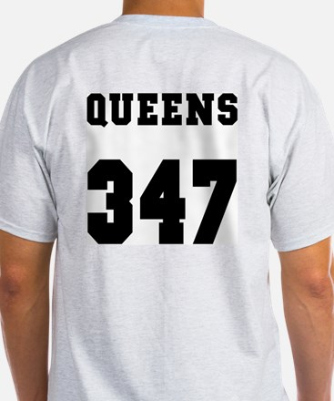 """QUEENS 347"" Ash Grey T-Shirt"
