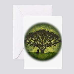 Buddha Under the Bodhi Tree Greeting Cards (Pk of