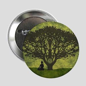 "Buddha Under the Bodhi Tree 2.25"" Button"