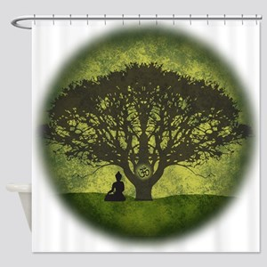 Buddha Under the Bodhi Tree Shower Curtain