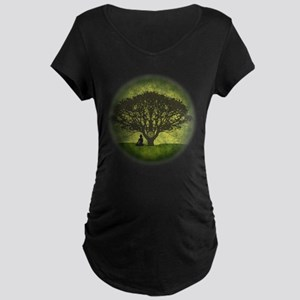 Buddha Under the Bodhi Tree Maternity Dark T-Shirt