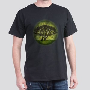 Buddha Under the Bodhi Tree Dark T-Shirt