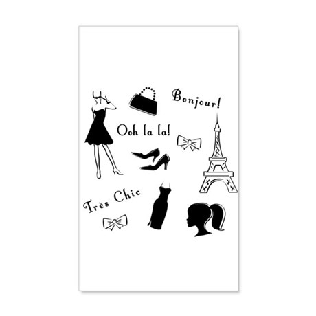 Tres Chic 35x21 Wall Decal