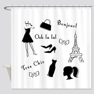 Tres Chic Shower Curtain