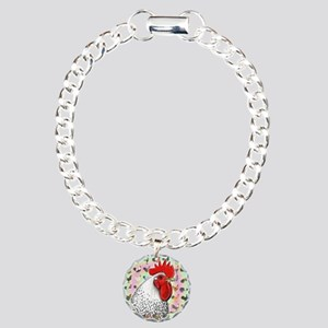 Roosters! Charm Bracelet, One Charm