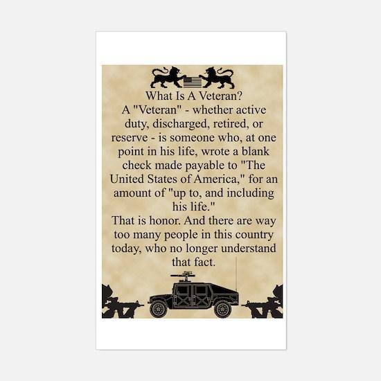 Veterans Sticker (Rectangle)