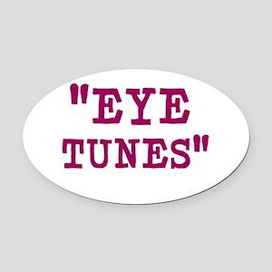 Eye Tunes - Niall Horan Oval Car Magnet