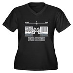 Bar Fight Women's Plus Size V-Neck Dark T-Shirt