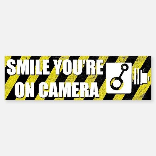 Smile you're on camera - Sticker (Bumper)