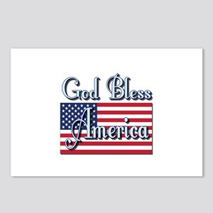 American Flag Blessing Postcards (Package of 8)