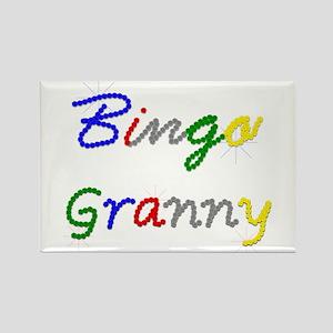 Bingo Granny Rectangle Magnet