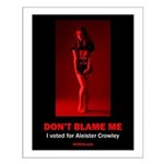 """""""Don't blame me..."""" Small Poster"""