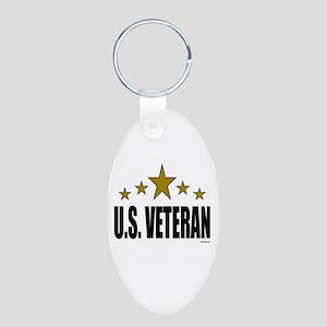 U.S. Veteran Aluminum Oval Keychain