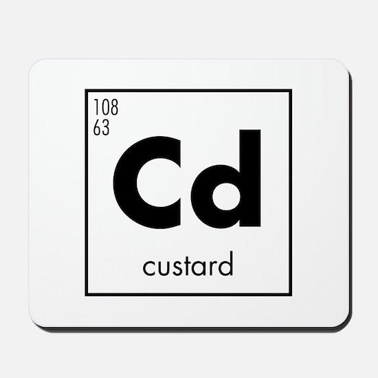 Element - Custard in Black Mousepad