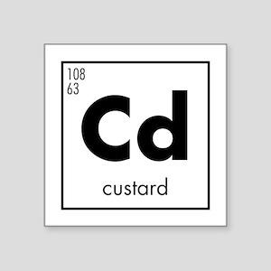 Element Custard In Black Square Sticker 3