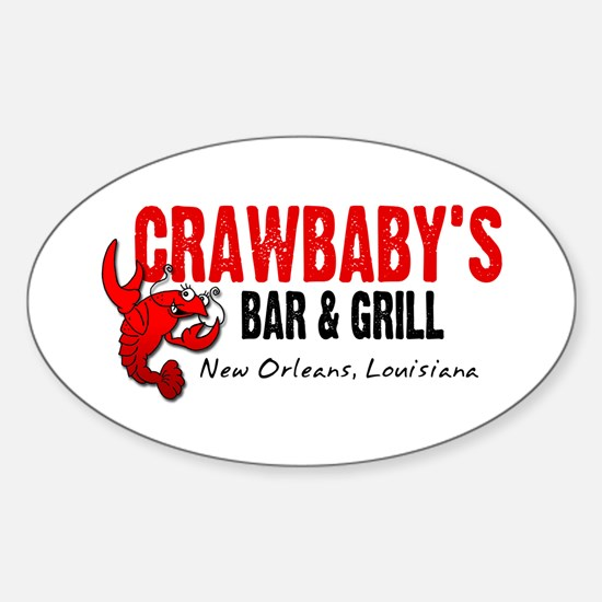 Crawbaby's Bar & Grill Oval Decal