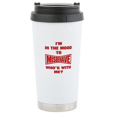 Mood To Misbehave Stainless Steel Travel Mug