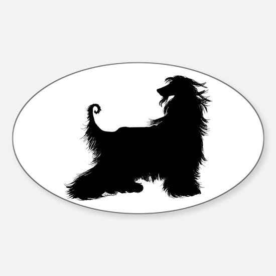 Afghan Silhouette Oval Decal