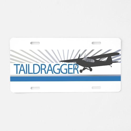 Aircraft Taildragger Aluminum License Plate