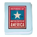 Independence Day baby blanket