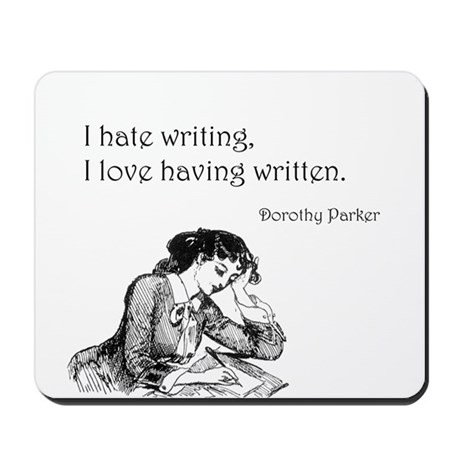 Love/Hate Writing Mousepad