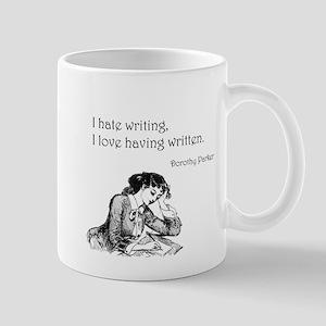 Love/Hate Writing 11 oz Ceramic Mug