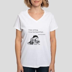 Love/Hate Writing Women's V-Neck T-Shirt
